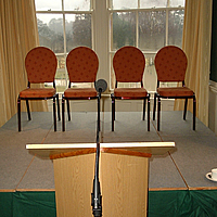 microphone ready for presentation